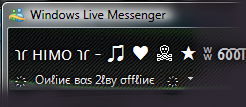 you can use this name in MSN Messenger